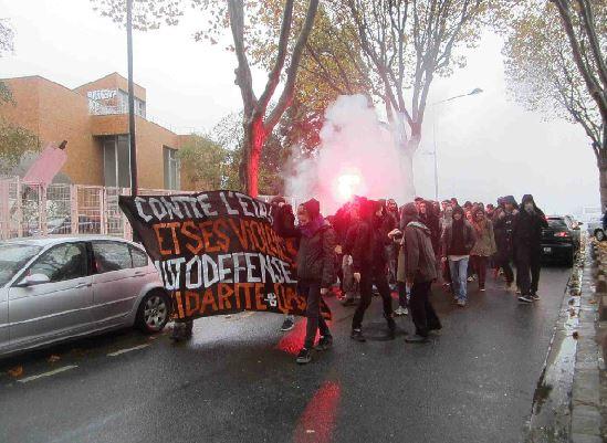 """""""Contre l'Etat et ses violences - Autodéfense - Solidarité de classe"""""""