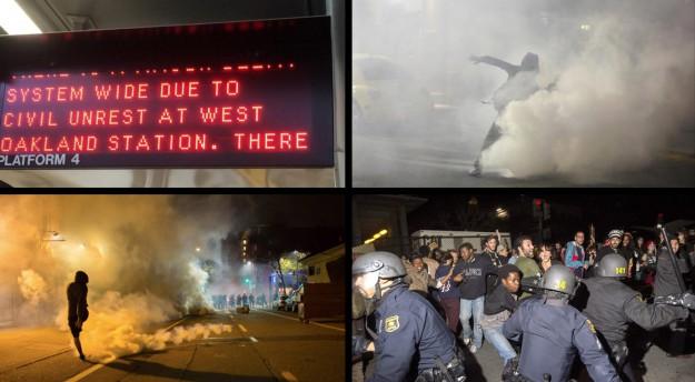 Perturbation du réseau de trnasport en commun lié aux manifs le 5 décembre; affrontements du 6 décembre