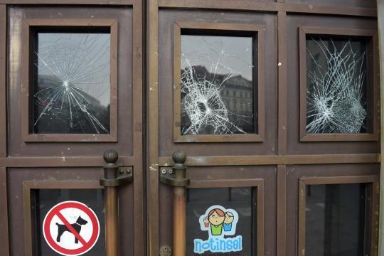 La porte de la mairie