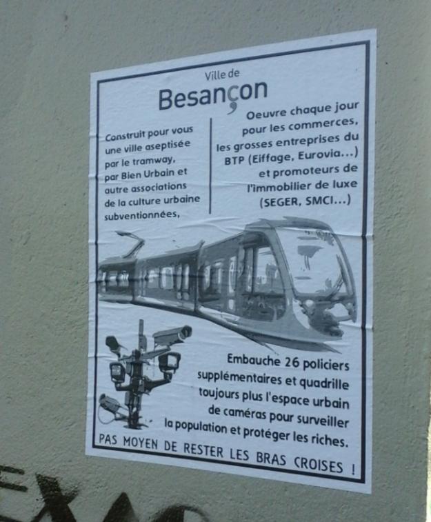 Affiche placardée dans Besançon, février 2015