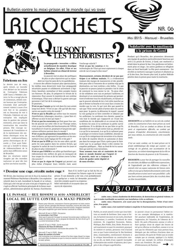 Lire le bulletin 'Ricochets n°6'