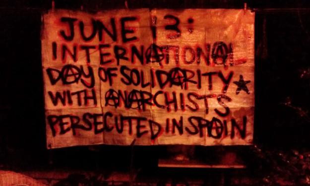 """""""13 juin: journée internationale de solidarité avec les anarchistes persécutés en Espagne"""""""