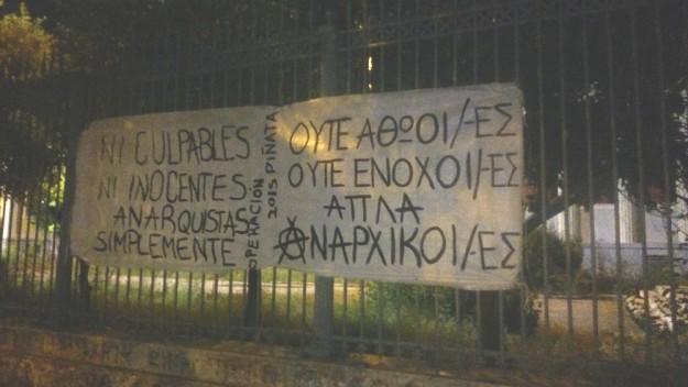 """Opération Piñata 2015: ni coupables ni innocents, simplement anarchistes"""