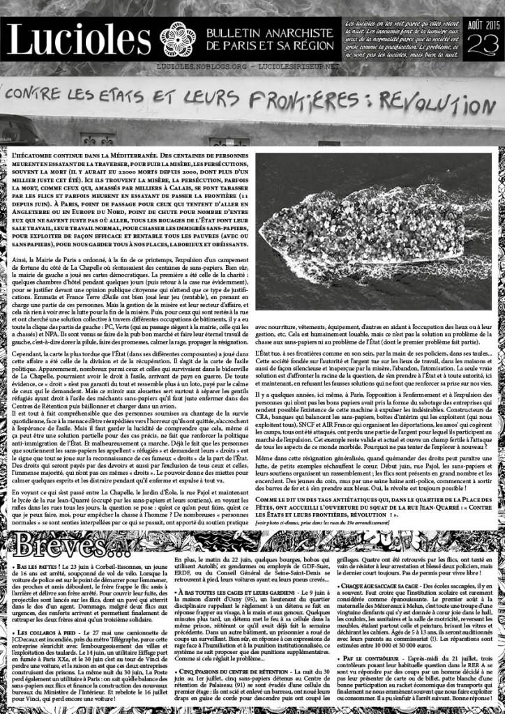 Voir tous les articles du n°23 de Lucioles en ligne sur le site