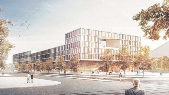 Maquette du nouveau centre judiciaire