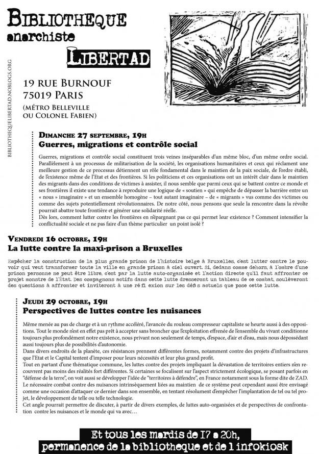 Le programme au format texte sur le blog