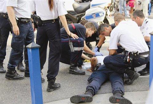 AGRESSION D'UN POLICIER A LA SUITE D'UN CONTROLE