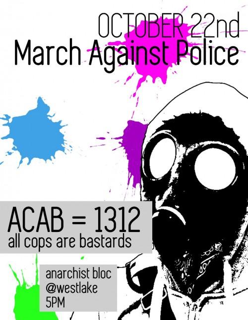 Manif anti-police prévue le 22 octobre prochain