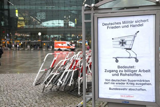 """""""L'armée allemande sécurise la paix et le commerce signifie: accès au travail bon marché et aux matières premières..."""""""
