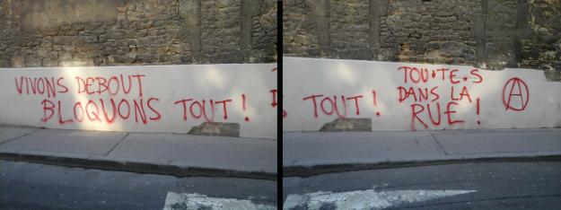 Tags vus devant le lycée Pasteur dimanche 13 mars 2016