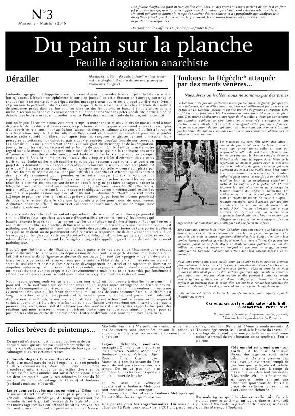 """Télécharger le troisième numéro de la feuille """"Du Pain sur la Planche"""" au format PDF"""