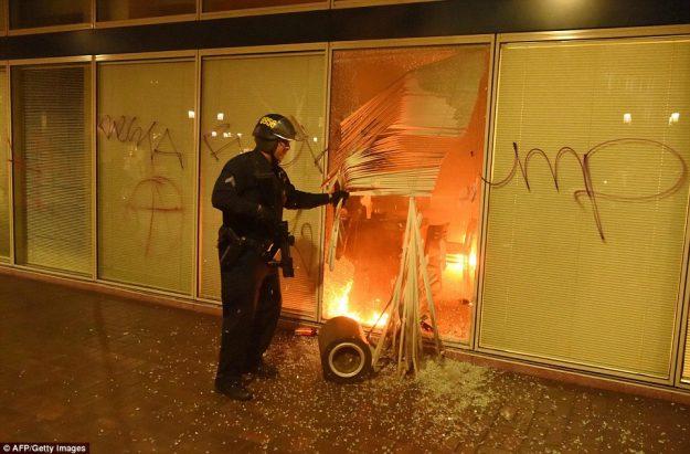Deuxième nuit d'émeute à Oakland (mercredi à jeudi 10 novembre)
