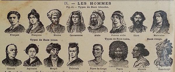 Les catégories des identitaires et raci(ali)stes il y a quelques siècles...