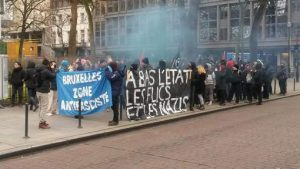 BRUSSELS ANTI FASCIST DEMONSTRATION